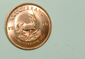 The Krugerrand is worth an estimated $850.