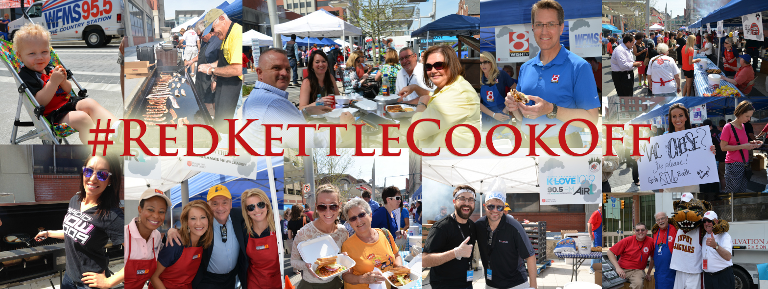Excited about the 2015 Red Kettle Cook-Off? Click here to check out photos from 2014 and remember keep an eye out for #RedKettleCookOff posts on social media leading up to the May 6th event!