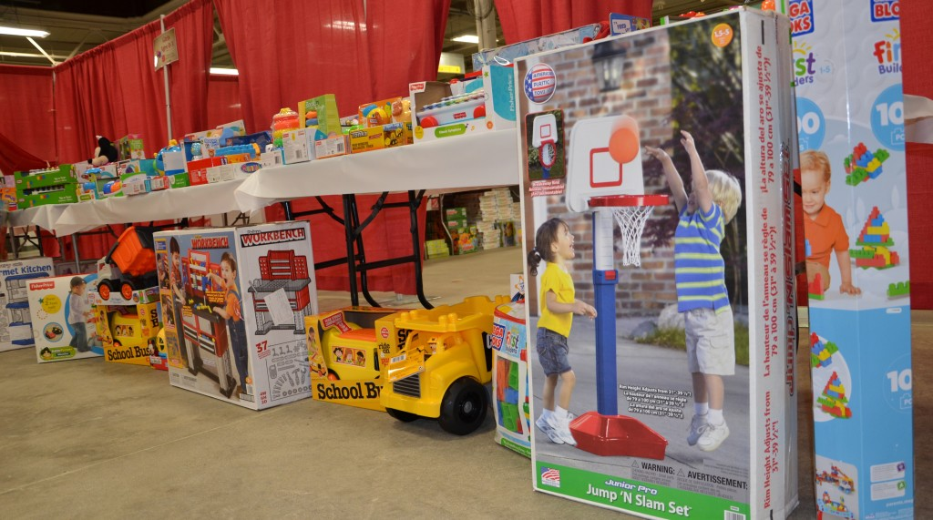 Tables await parents in search of the perfect Christmas gifts for their children. Click here to see more photos of The Salvation Army Toy Shop!