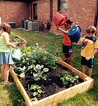 Campers learn how to grow fresh fruits and vegetables