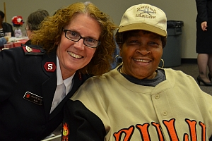 Major Collette Webster with a guest
