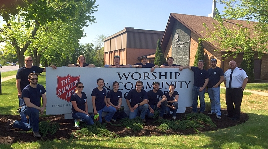 Employees from Turner Construction Co. spend a day of service at The Salvation Army Eagle Creek Corps. Click here to see more photos from the event.