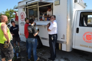 Mobile kitchens bring food and drinks to residents and clean up crews throughout Kokomo