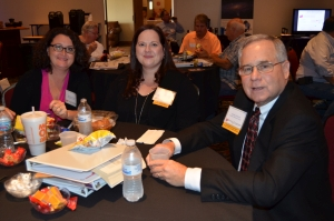 Participants enjoy lunch at the Indianapolis webcast site